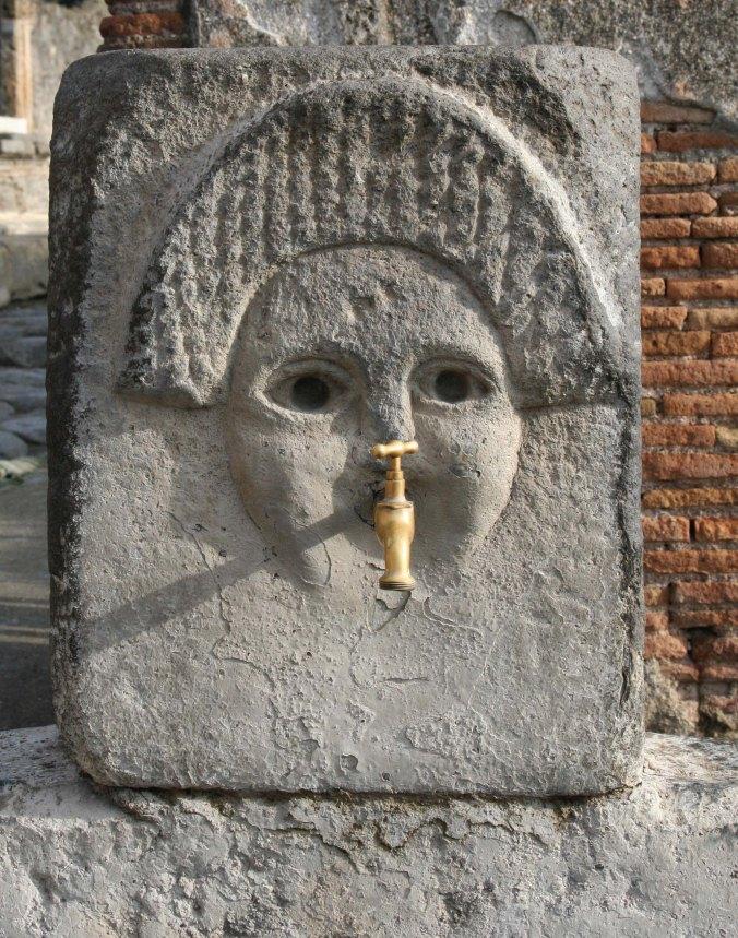 Water faucet in Pompeii