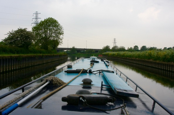 What it looks like from the helm of a narrowboat