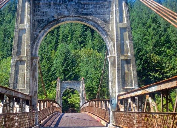 Alexandra Suspension Bridge across Fraser River