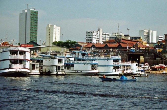 Amazon boats in Manaus Brazil