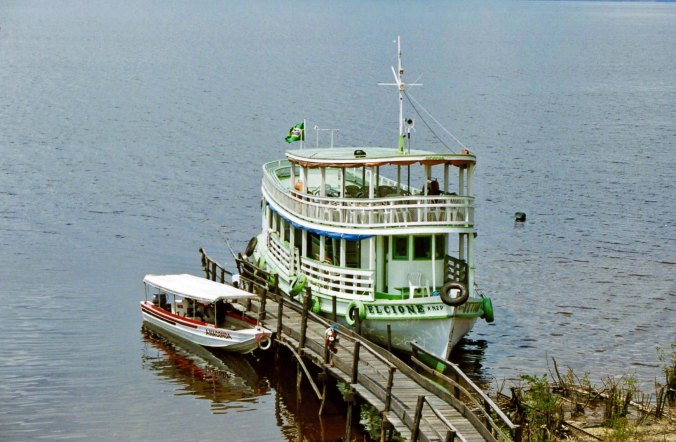 Boat on Rio Negro River