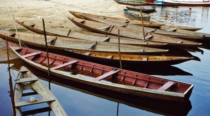 Boats at Nova Airao, Brazil