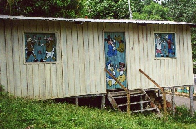 Cartoon building in Novo Airao, Brazil