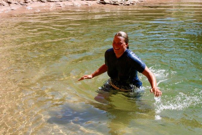 Cool dip in Colorado River