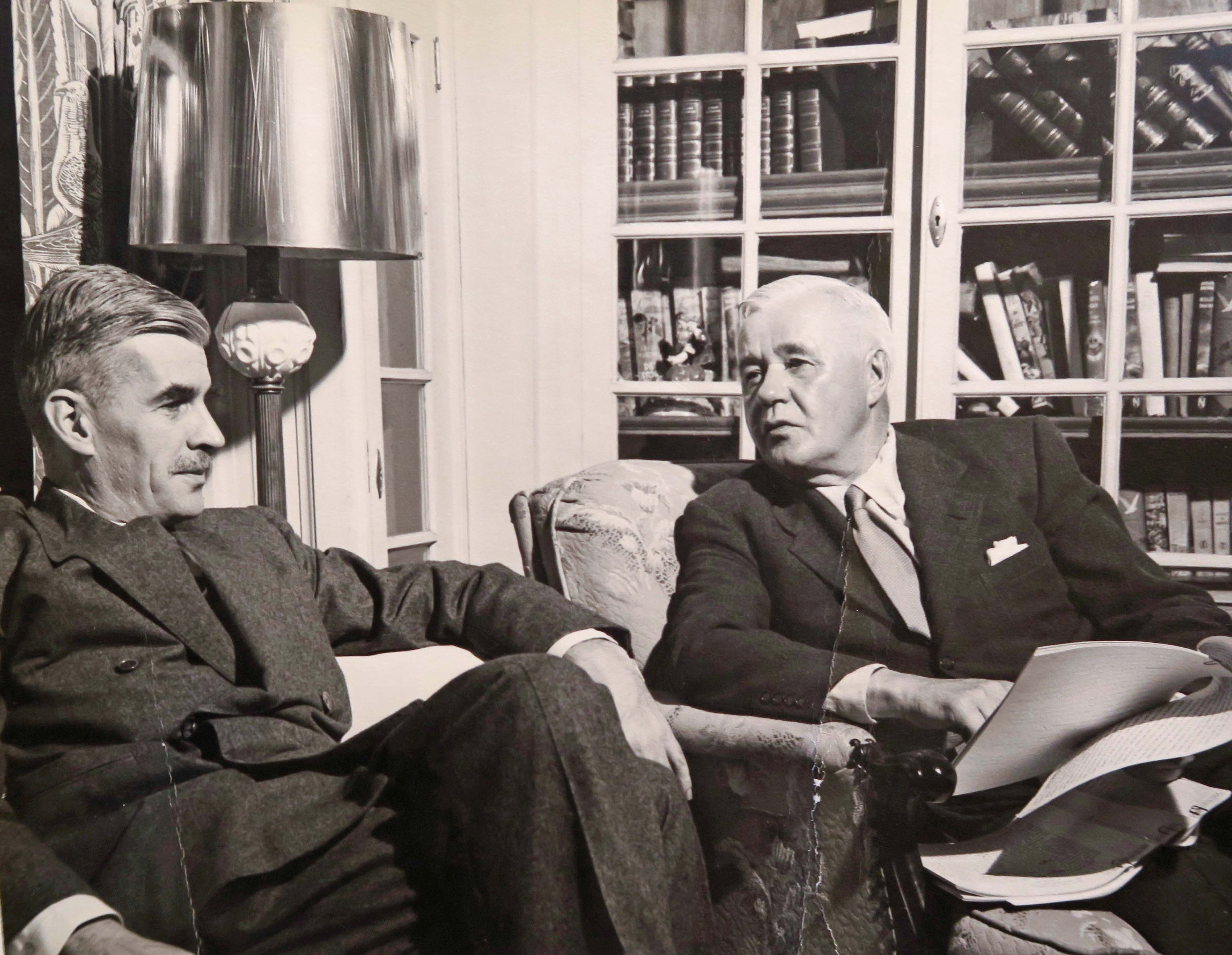 Edison Marshall and his Agent Paul Reynolds