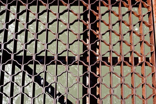 Grates on Alexzandra Bridge, BC