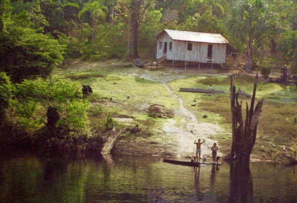 Home along Rio Negro in Bazil