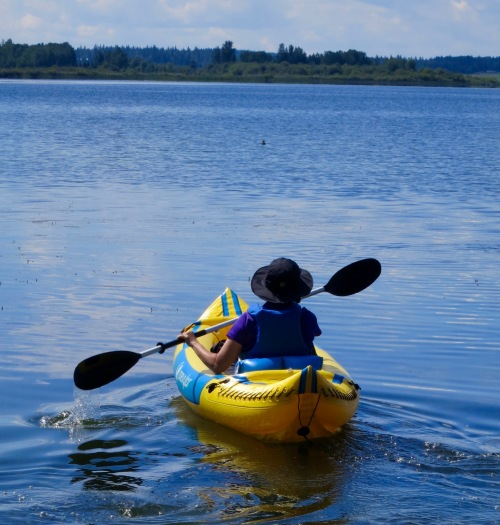Peggy Mekemson Kayaking in Quesnel