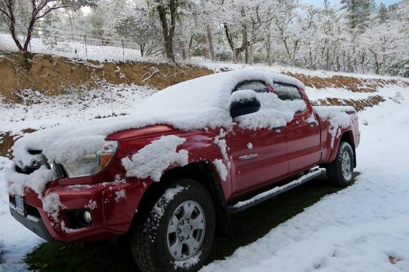 Toyota pickup on Upper Applegate