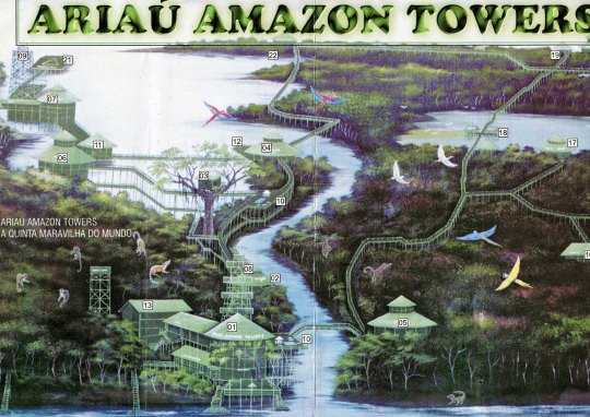 Map of Ariau Amazon Tower