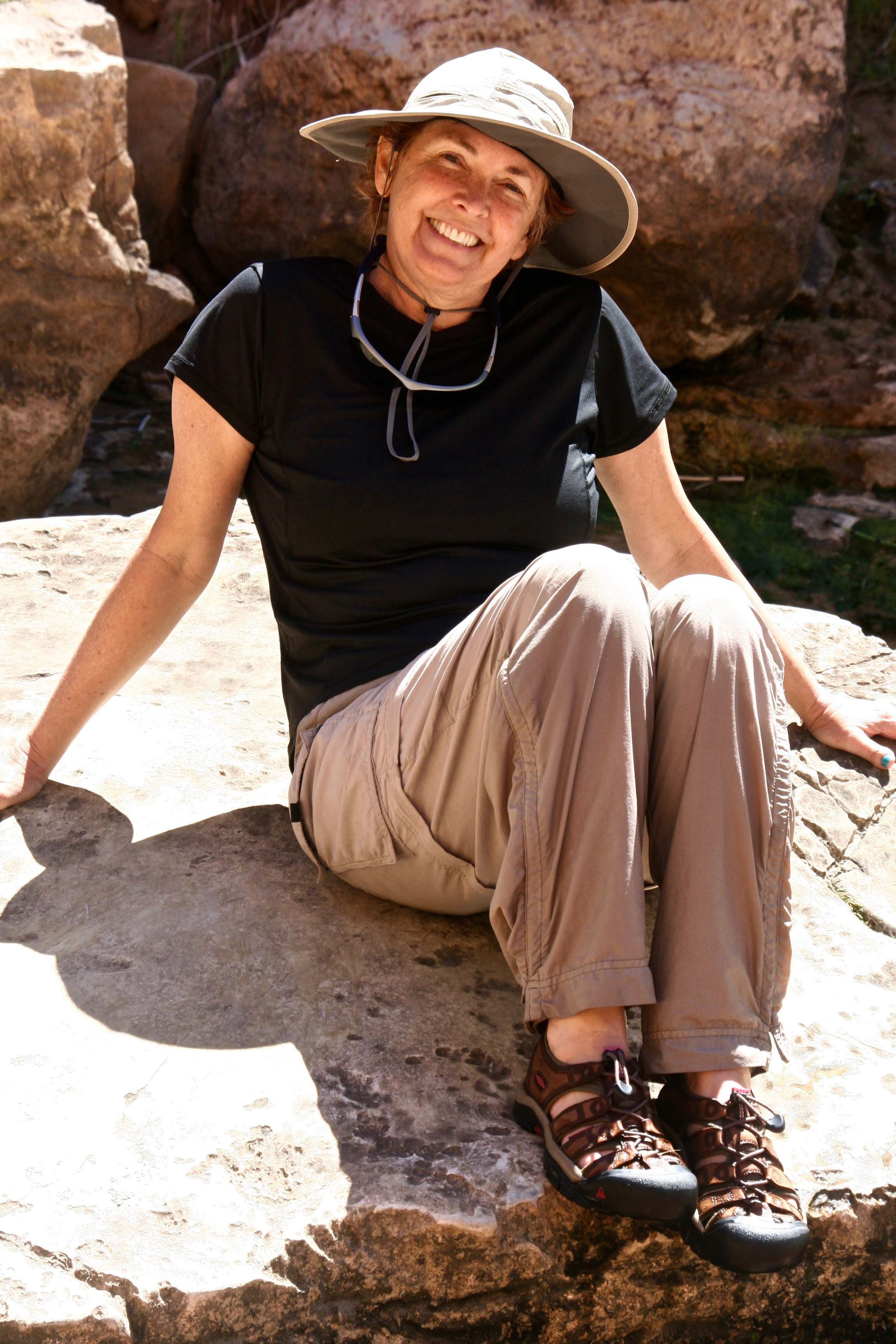 Peggy Mekemson at Vasey's Paradise in the Grand Canyon