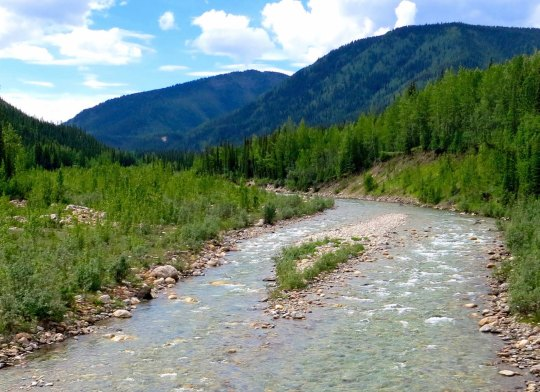 River along Alaska Highway