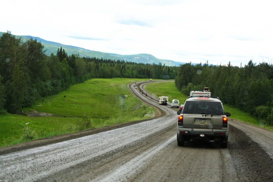 Road Construction along Alaska Highway