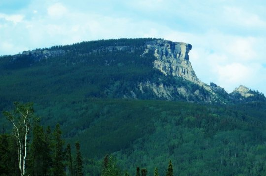 Rock Face along Alaska Highway