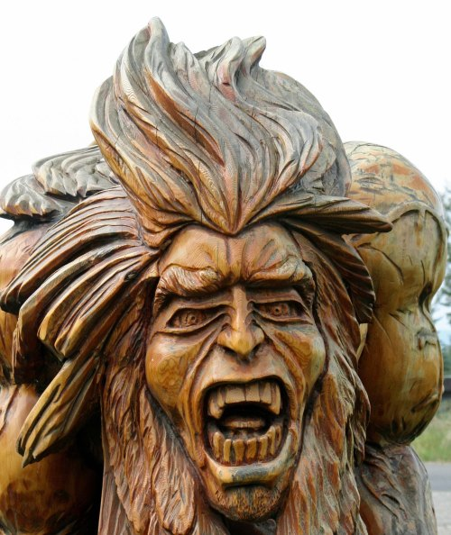 Scary carving at Chetwynd