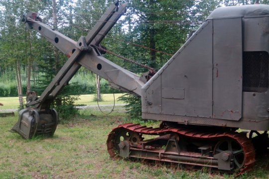 Steam shovel used to build the Alaska Highway