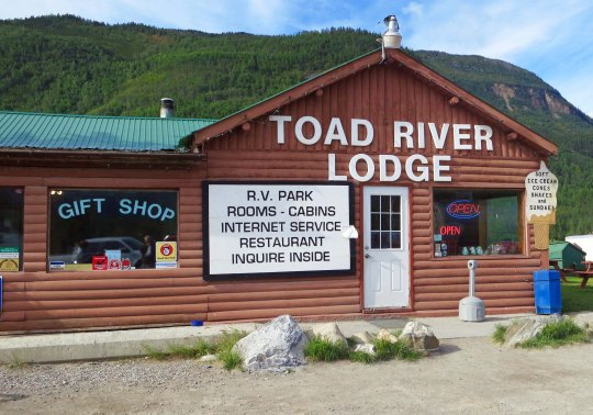 Toad River Lodge on Alaska Highway