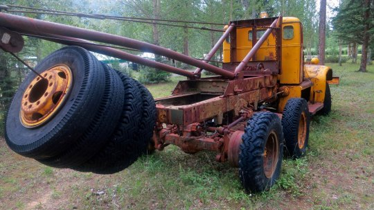 Tow truck used on the Alaska Highway