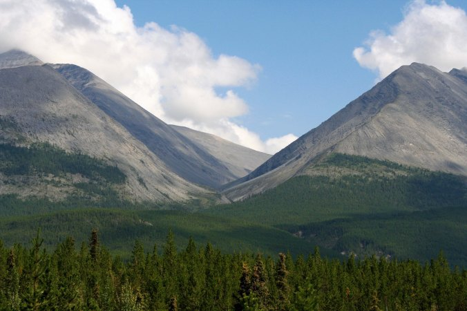 View along Alaska Highway in BC