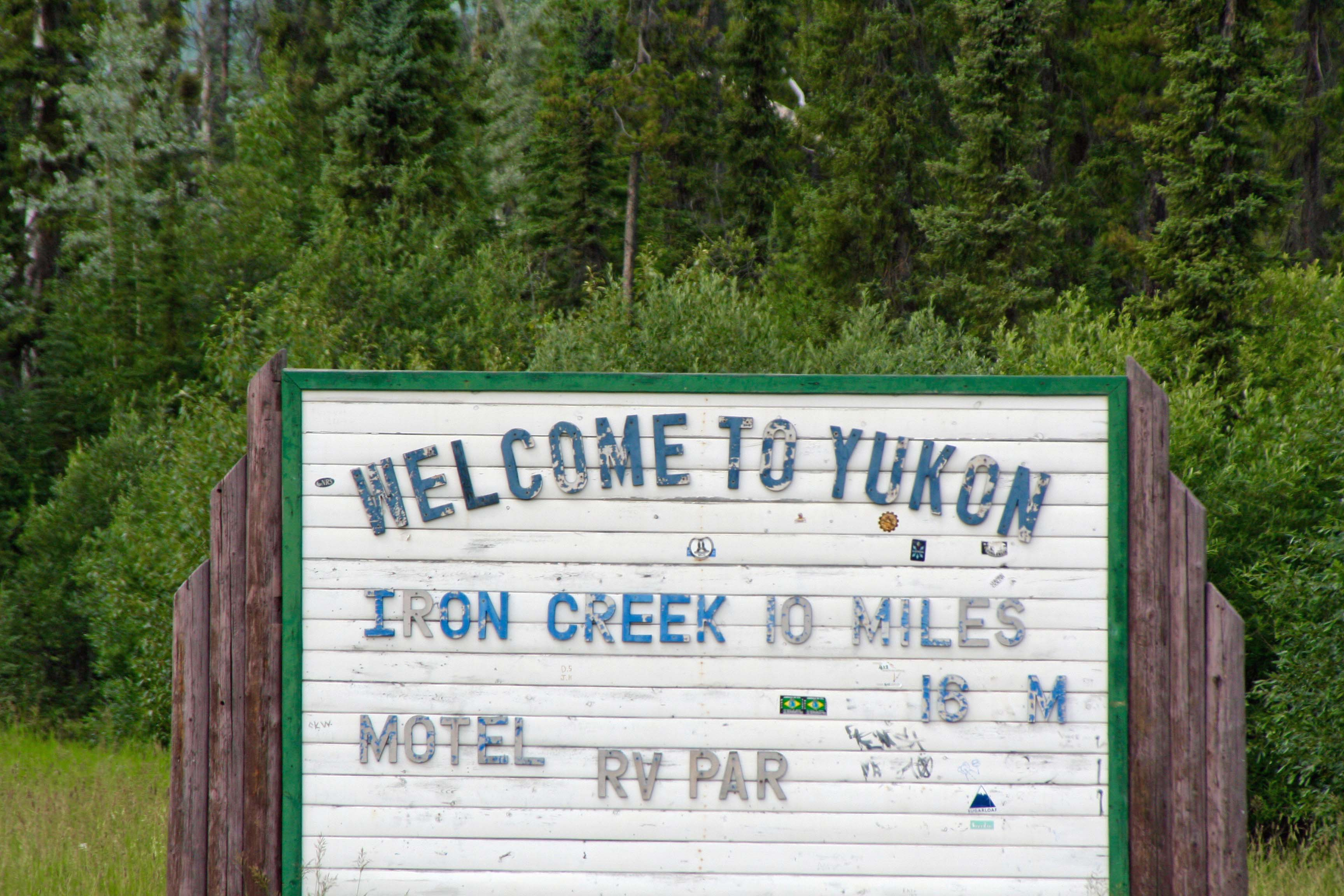 Welcome to the Yukon sign