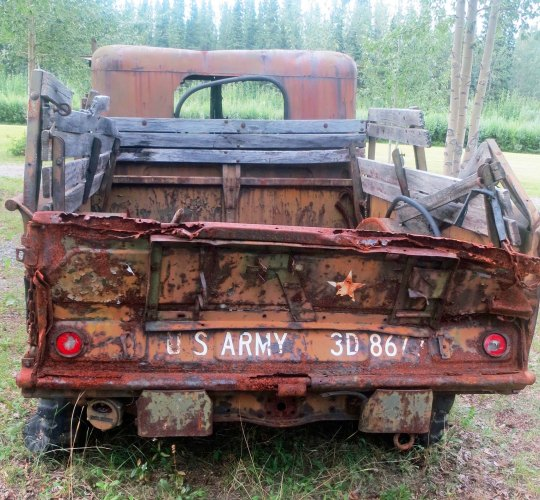 WW II army truck on Alaska Highway