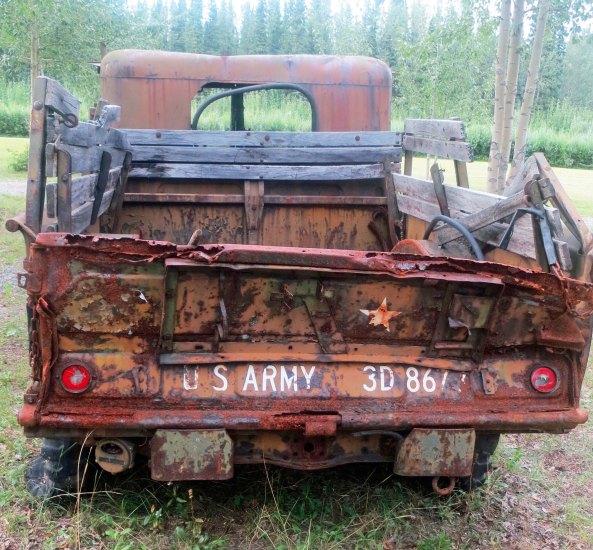 WW II army truck on Alaska Highway