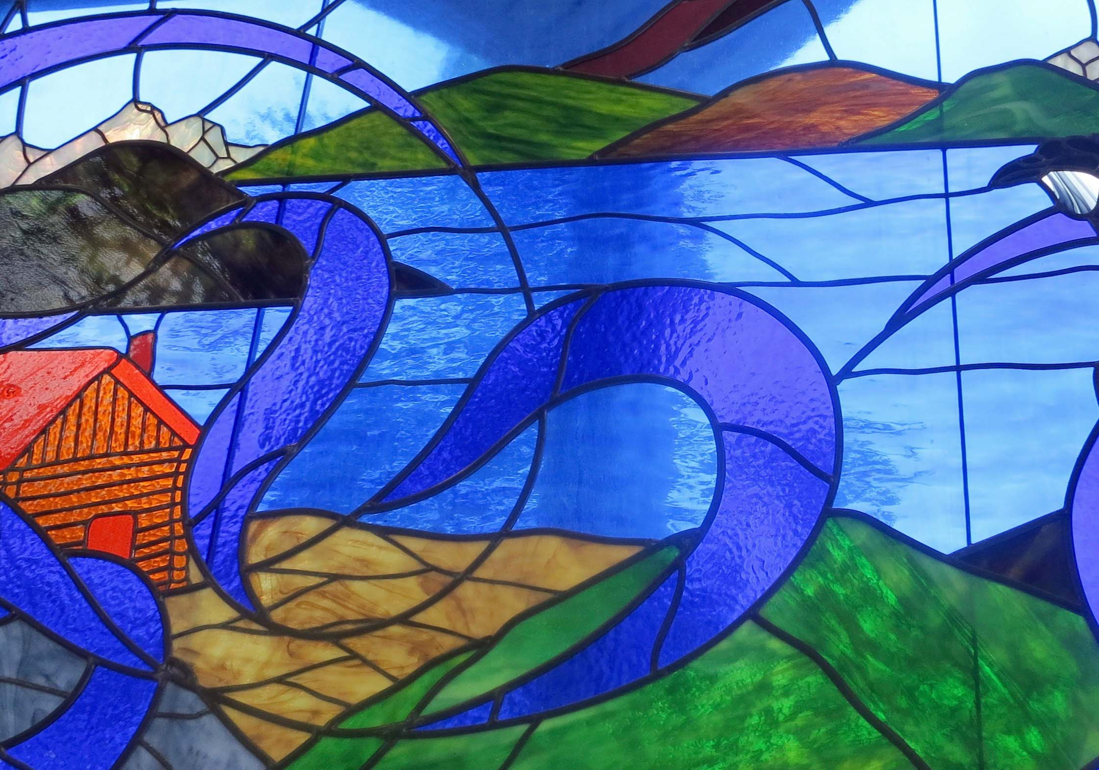 Stained glass, Whitehorse, YT