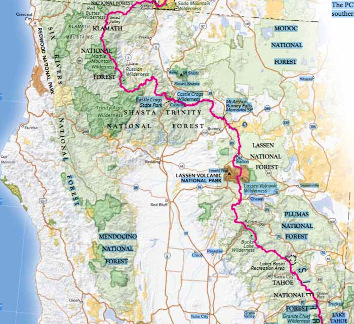 Ashland Montana Map.The First 500 Miles On My Thousand Mile Backpack Trek Mt Ashland