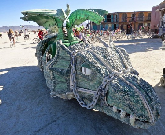 Alligator mutant vehicle at Burning Man.