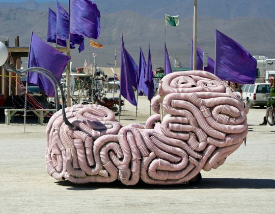 A brain mutant vehicle at Burning Man.