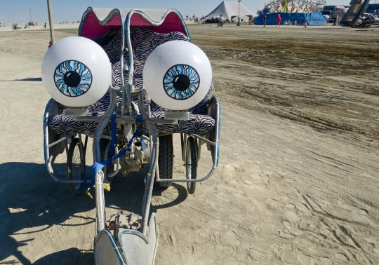 Buggy eyed mutant vehicle at Burning Man.