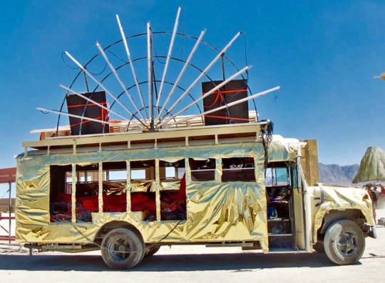 Bus mutant vehicle at Burning Man