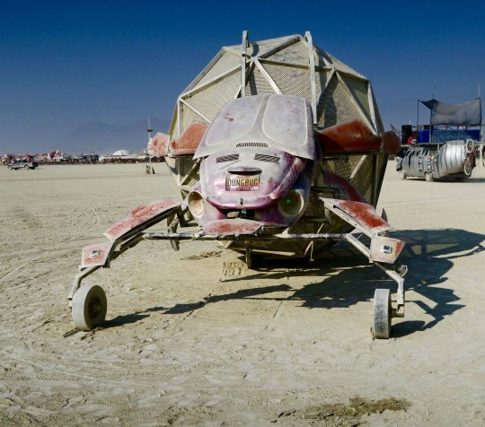Dung beetle mutant vehicle at Burning Man.