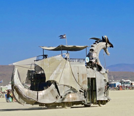 Heavy Metal mutant vehicle dragon at Burning Man.
