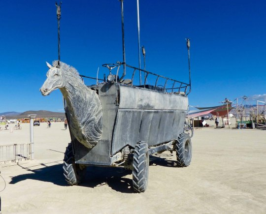 Horsecars mutant vehicle at Burning Man.