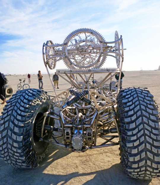 Modern hot rod at Burning Man.