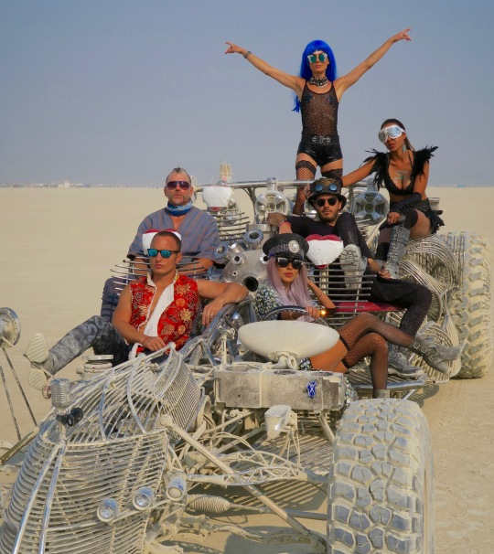 Hot rod photo session at Burning Man.