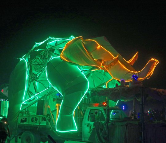 Large elephant mutant vehicle at Burning Man.