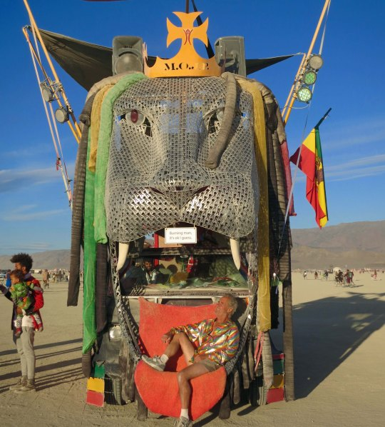 Lion mutant vehicle at Burning Man.