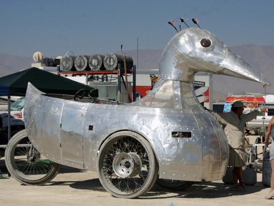 Duck mutant vehicle at Burning Man.