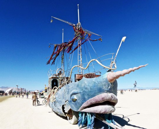 Narwhal mutant vehicle at Burning Man.
