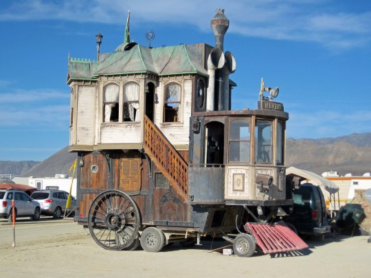 Never Was Haul mutant vehicle at Burning Man.