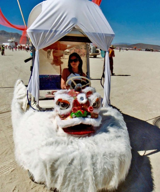 Small dragon mutant vehicle at Burning Man.