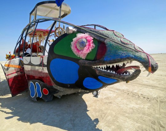 Pin eyed mutant vehicle at Burning Man.