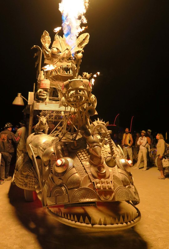 Rabid Transit mutant vehicle at Burning Man