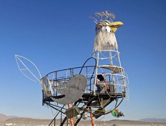 Rooster mutant vehicle at Burning Man.