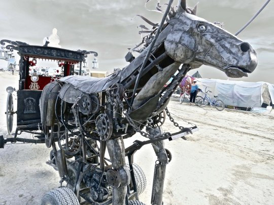 Steampunk horse at Burning Man.