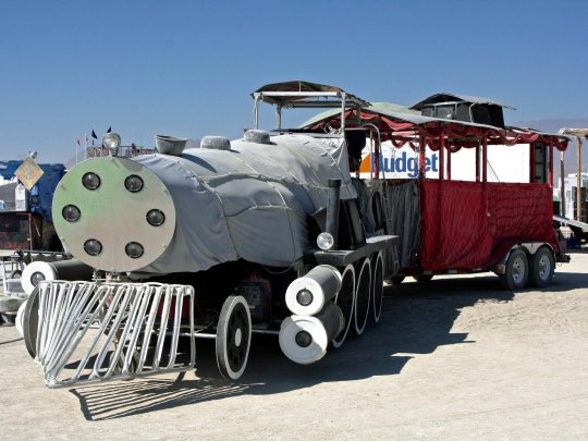 Mutant vehicle train at Black Rock City.