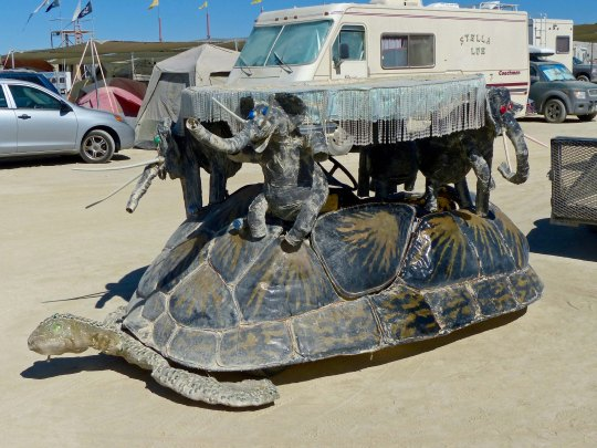 Turtle mutant vehicle at Burning Man.