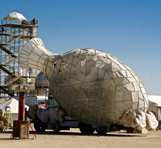 Mutant vehicle vase at Burning Man.